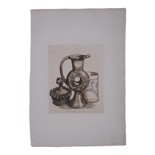 Antique Ltd. Ed. Etching-English Pottery