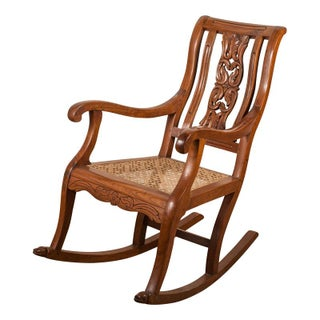 Teak Rocking Chair from 19th C. India