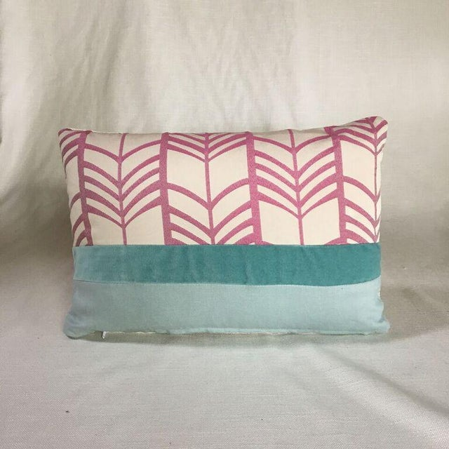 Modern Pink Pillow : Kim Salmela Modern Pink Patchwork Pillow Chairish