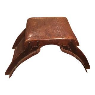1880s Wood Elephant Saddle Stool