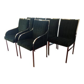 Mid-Century Modern Teal Dining Chairs - Set of 6