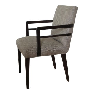 Vintage Ebonized Wood Armchair