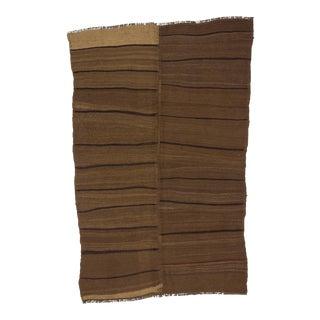 Vintage Turkish Brown Wool rug - 5′6″ × 8′7″