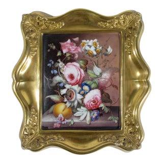 Grainger Worcester English Porcelain Botanical Plaque