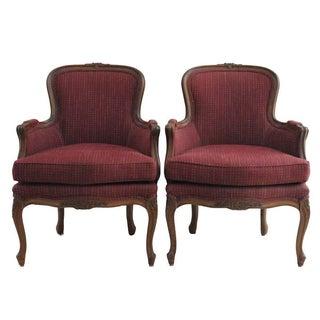 Ethan Allen Louis XV Style Bergeres - A Pair