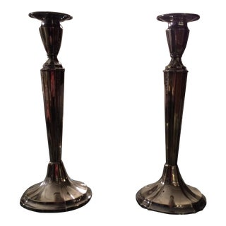 Gorham Vintage Silver Plated Candlesticks- A Pair