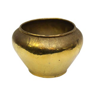 Small Gold Colored Vintage Vase