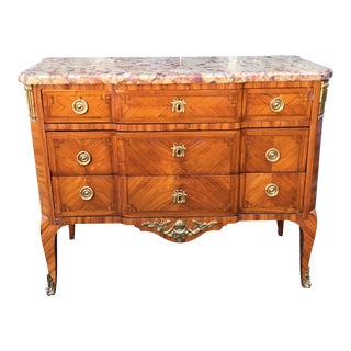 Antique French Gilt Bronze Mounted Kingwood Commode