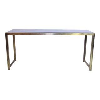 French Brass Console Table