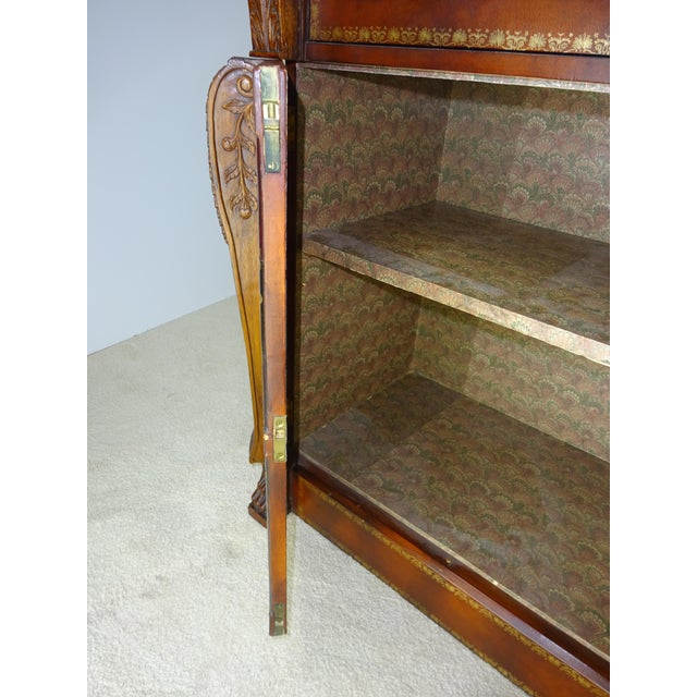 Maitland Smith Leather Faux Book Cabinet - Image 7 of 11