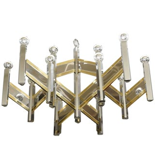Gaetano Sciolari Mixed Metal Zig Zag Chevron Chandelier