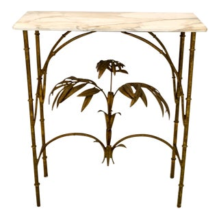 Italian Marble Palm Tree Console Table