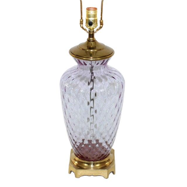 Hollywood Regency Glass Lamp - Image 1 of 8