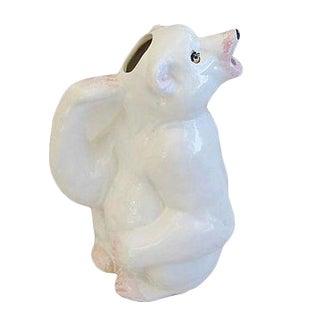 Vintage Italian Ceramic Polar Bear Pitcher