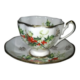 Queen Anne 'Yuletide' Teacup & Saucer