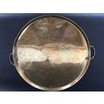 Image of Round Brass Bamboo Tray