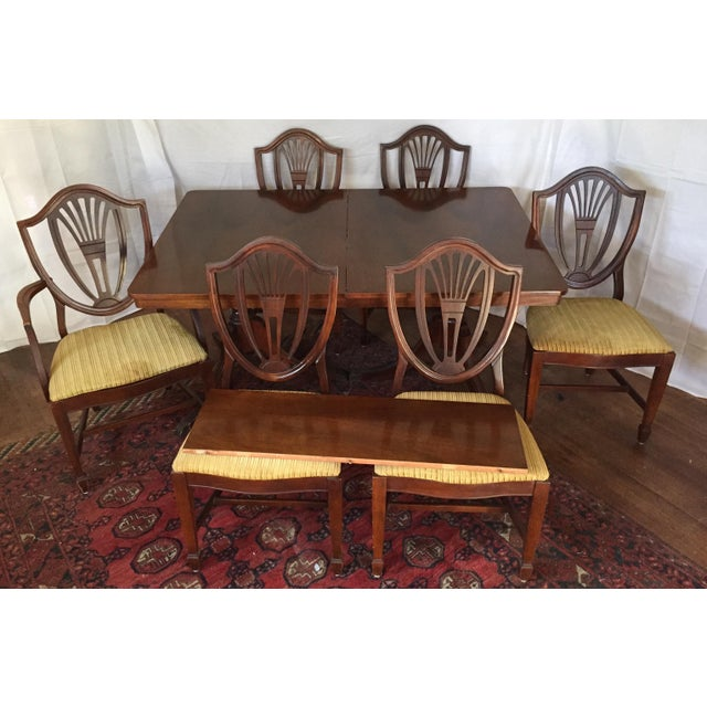 broyhill hepplewhite style federal dining room set chairish