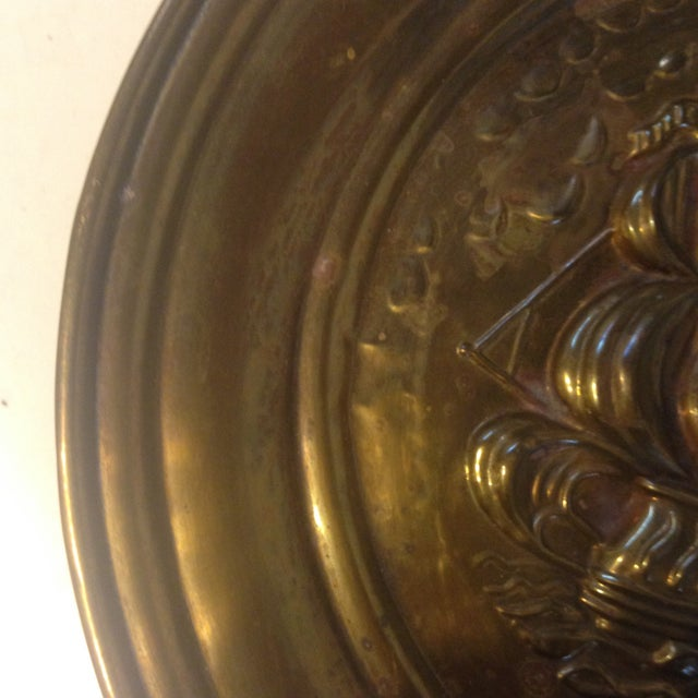 Mid Century Brass Ship Wallhanging - Image 4 of 5