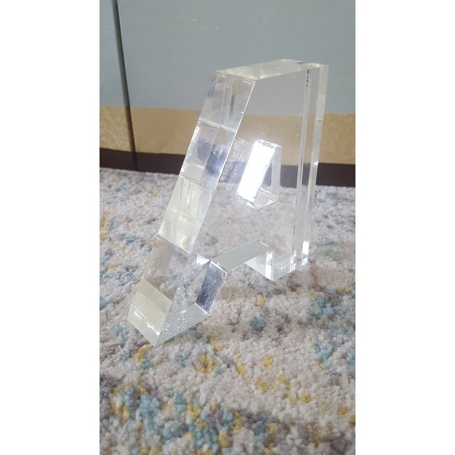 Mid Century Lucite Block Letter A - Image 3 of 4