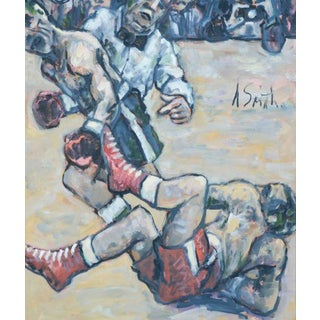 """The Count"" Boxing Painting by WPA Artist Arthur Smith"