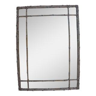 Faux Bamboo Decorative Wall Mirror