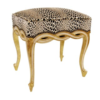Regency Style Designer Taboret Bench by Randy Esada Designs