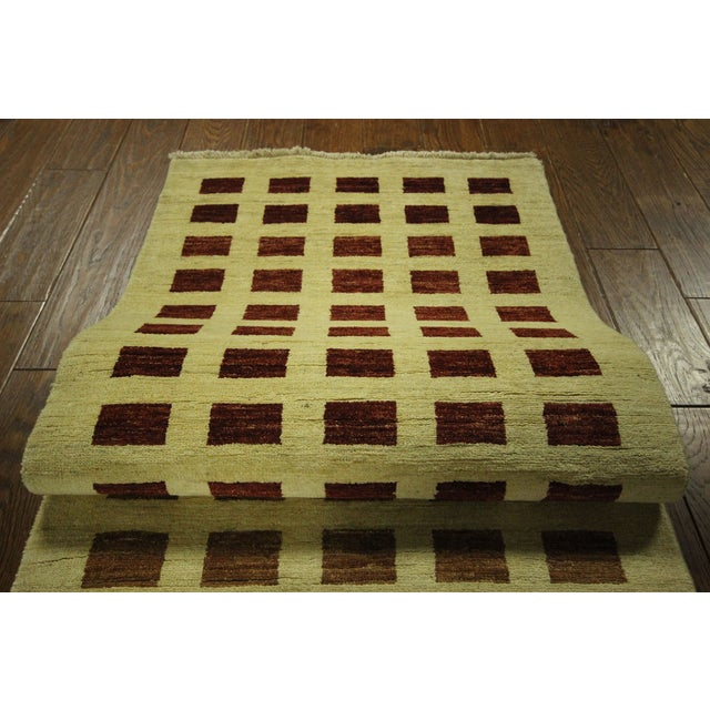 Ivory Checkered Kashkuli Gabbeh Runner - 3'x10' - Image 8 of 9