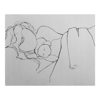 'New Mother' Line Drawing