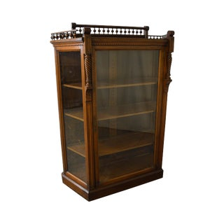 Allen Brothers Victorian Aesthetic Movement Antique Walnut Bookcase