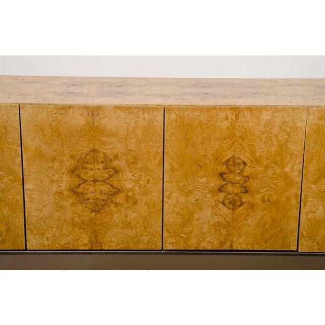 Mid-Century Milo Baughman Burled Wood Credenza - Image 7 of 8