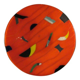 Vintage Andreas Meyer Fused Art Glass Plate
