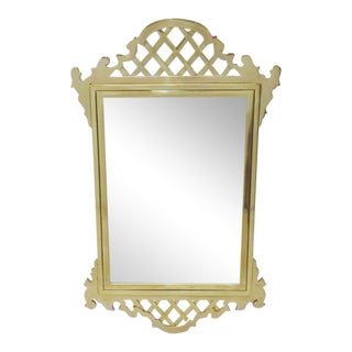 Chippendale Style Brass Hanging Wall Mirror