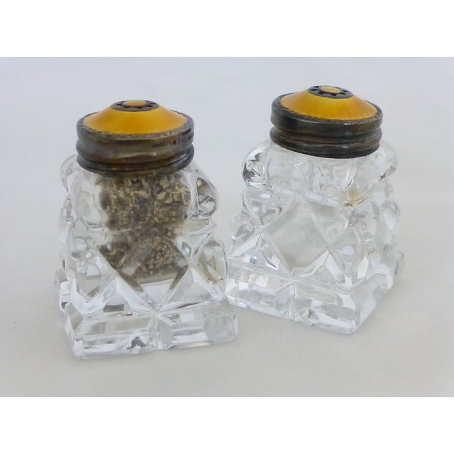 Antique Cut Crystal & Sterling Salt & Pepper Sets - Image 4 of 7