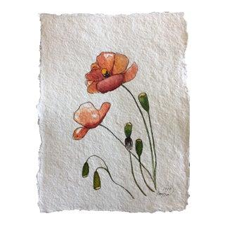 """Poppies"" Original Watercolor Painting"