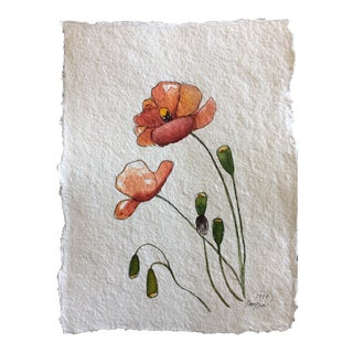 """Poppies"" Original Watercolor Painting"