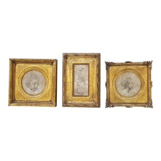 "Vintage La Barge "" Hampden Road"" Gilt Picture Frames - Set of 3"