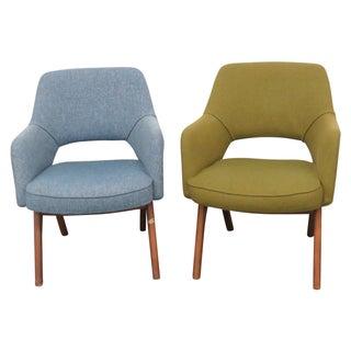 Companion Danish Modern Lounge Chairs - Pair