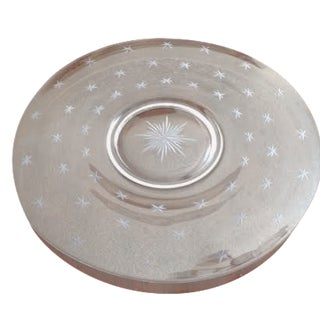 Vintage Glass Starburst Platter
