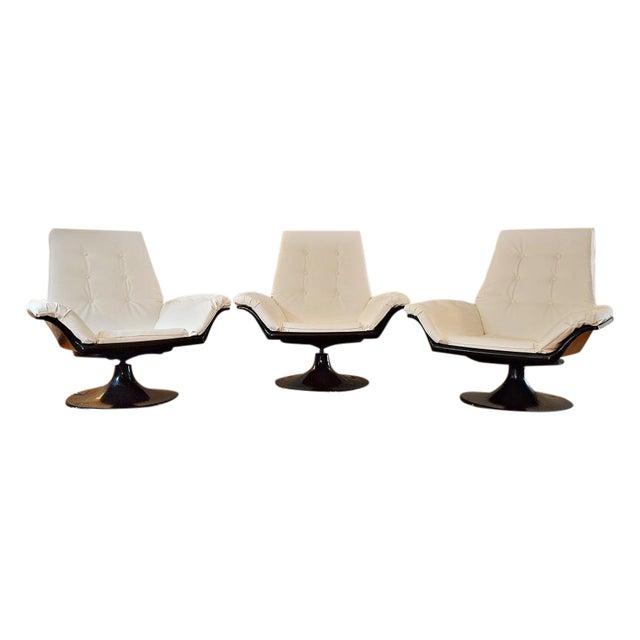 Decorian Swivel Tulip Base Chairs - Set of 3 - Image 1 of 11
