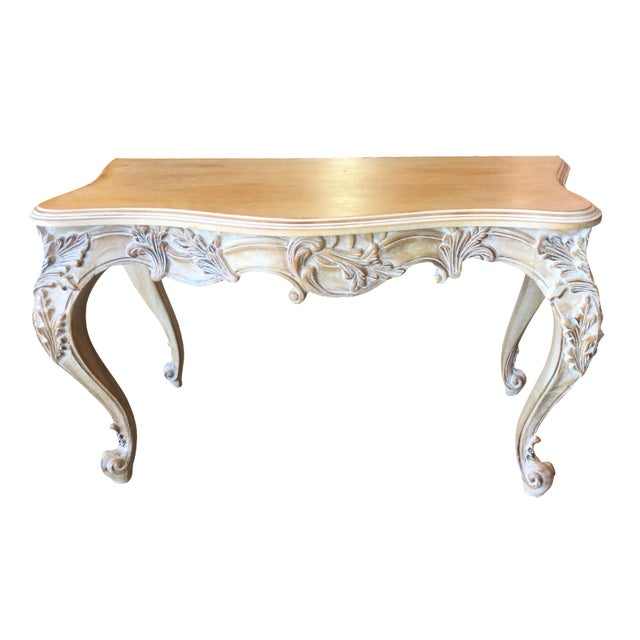 Italian Carved Wood Console Table - Image 1 of 11