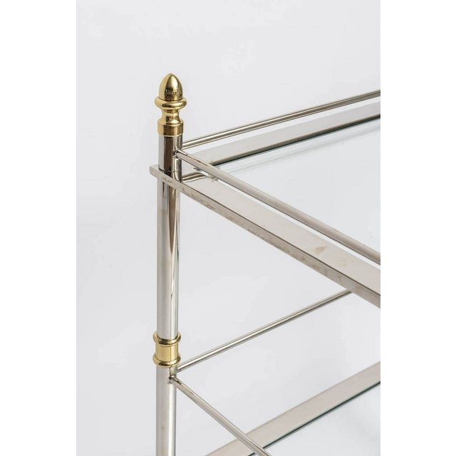 Nickel and Brass Bar/Serving Cart - Image 4 of 5