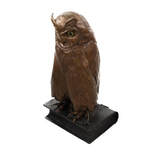 Vienna Cold Painted Bronze Owl Sculpture