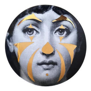 Atelier Fornasetti Gold Tema E Variazioni Plate, Number 122