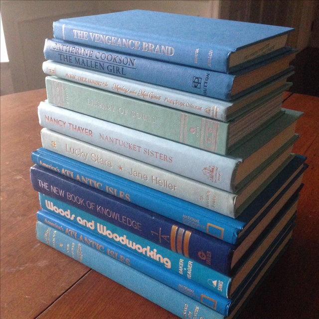 Set of Bright Blue Decorative Books - 11 - Image 10 of 11