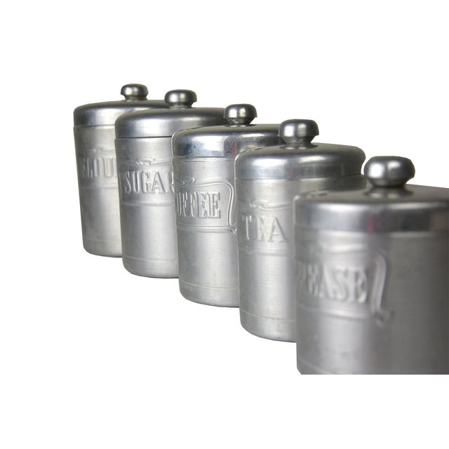Vintage Italian Silver Canisters - Set of 5 - Image 3 of 3