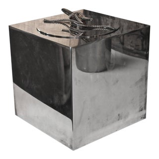 Ice Bucket in Silver Plate and Brass by Gucci