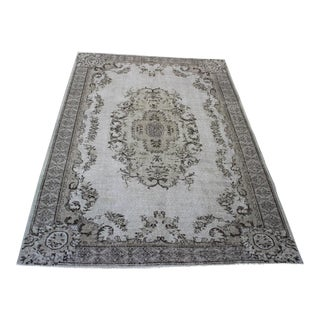 Turkish Hand Made Fett Oriental Rug- 6′6″ × 9′8″