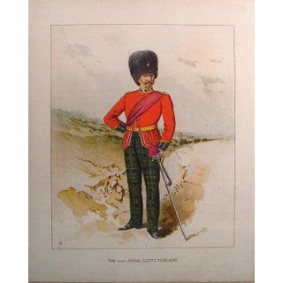 1890s 21st Royal Scots Fusiliers Lithograph