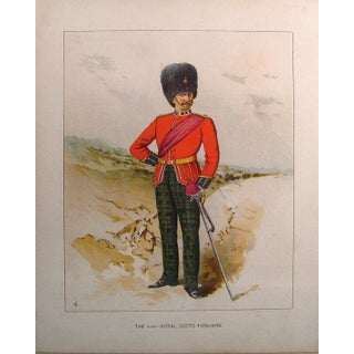 1890s 21st Royal Scots Fusiliers Lithograph