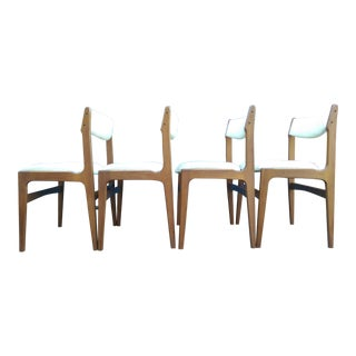 Teak Erik Buch-Style Danish Modern Chairs - Set of 4